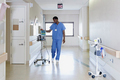 Hospital worker with iv drip - PhotoDune Item for Sale