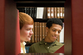 Two students reading in the library - PhotoDune Item for Sale