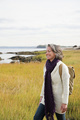 Mature woman walking on marshland - PhotoDune Item for Sale