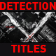 Detection Titles - VideoHive Item for Sale