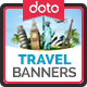 HTML5 TRAVEL Banners - GWD - 7 Sizes