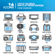 Detailed thin line icons. Office technics and electronic devices. Set 1 - GraphicRiver Item for Sale