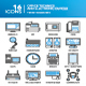 Detailed thin line icons. Office technics and electronic devices. Set 2 - GraphicRiver Item for Sale