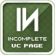 Incomplete Under Construction Page - ThemeForest Item for Sale