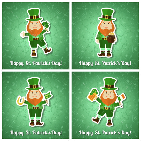 Set of Saint Patrick's Day Cards