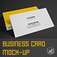 Realistic Business Card Mock-up V1 - GraphicRiver Item for Sale