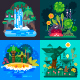 Four Jungle Landscapes. - GraphicRiver Item for Sale