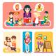Happy Children in Kindergarten - GraphicRiver Item for Sale