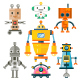 Isolated Robot Set - GraphicRiver Item for Sale