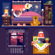 Dreaming Girl In Cozy Bedroom. - GraphicRiver Item for Sale