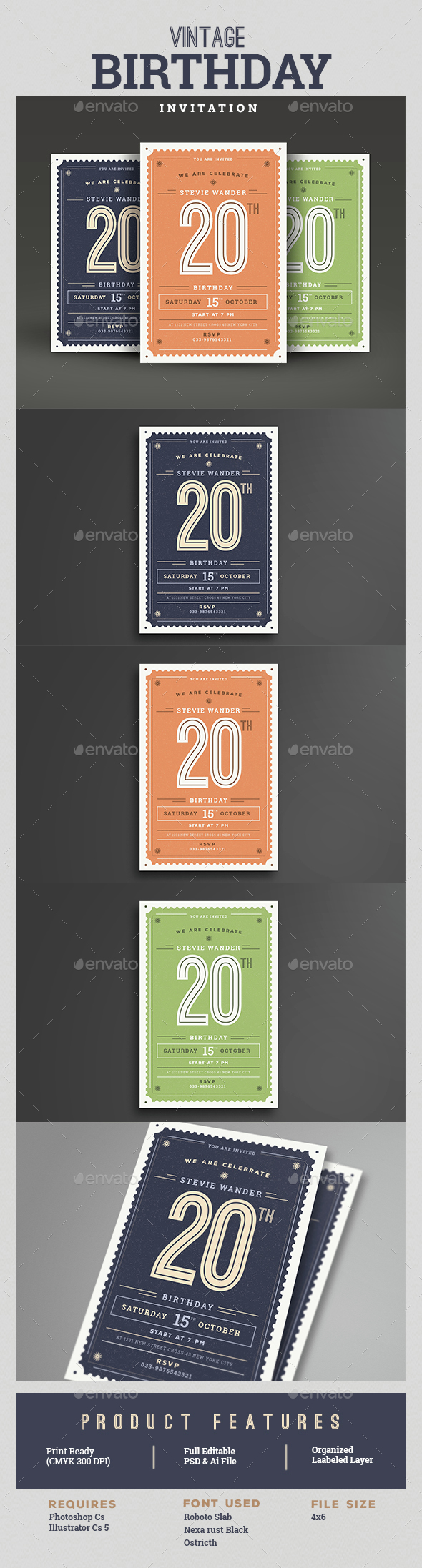 Print Ready Birthday Card Designs Templates From Graphicriver