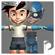 Rigged Cartoon Boy - 3DOcean Item for Sale
