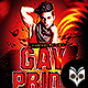 Gay Prade Party Flyer - GraphicRiver Item for Sale