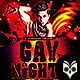 Gay Nights Flyer - GraphicRiver Item for Sale