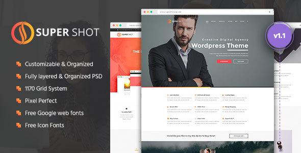 SuperShot   Creative PSD Template