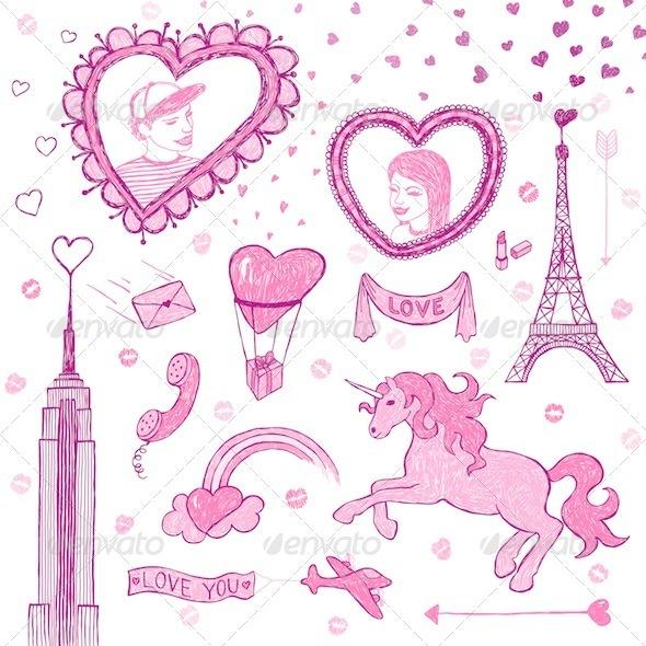 Valentine Doodle Set