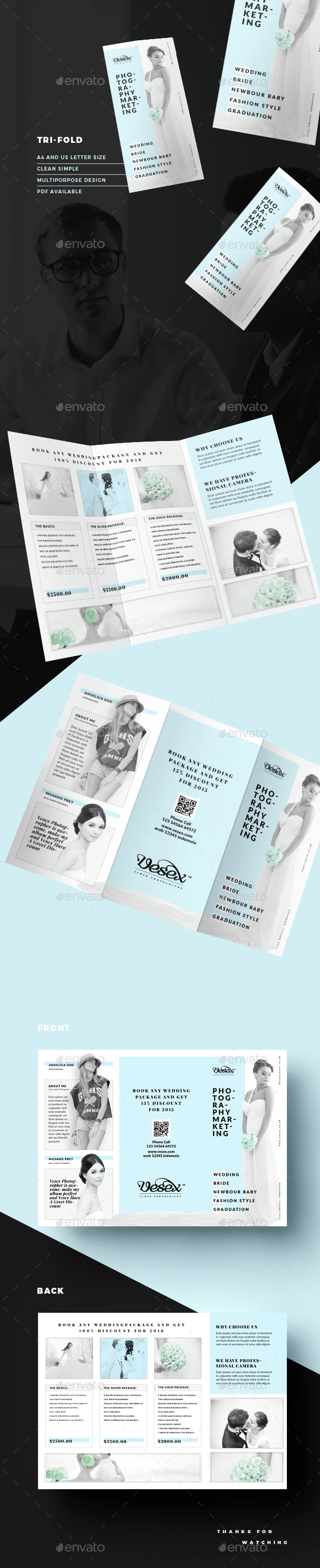 Wedding Brochure Templates from GraphicRiver