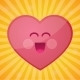 Cartoon Heart Happy Valentines Day - GraphicRiver Item for Sale
