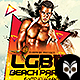LGBT Beach Party Flyer - GraphicRiver Item for Sale