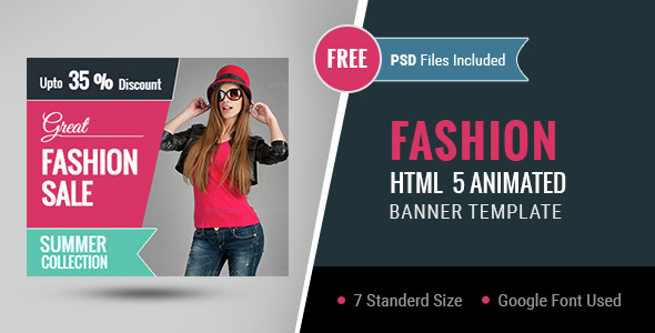 Fashion | HTML5 Google Banner Ad 01 Download