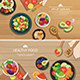 Healthy Organic Vegetarian on a Wooden Background Top View Flat Design - GraphicRiver Item for Sale
