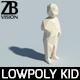 Lowpoly Kid 001 - 3DOcean Item for Sale