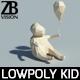 Lowpoly Kid 002 - 3DOcean Item for Sale