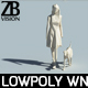Lowpoly woman 001 - 3DOcean Item for Sale
