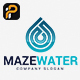 Maze Water Logo - GraphicRiver Item for Sale