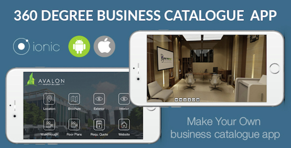 Ionic 3D Catalogue App for iOS & Android Download
