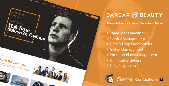 HairLoom | Responsive WordPress Theme for Barbers & Hair Salons
