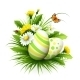 Easter Card With Eggs And Flowers. Vector - GraphicRiver Item for Sale
