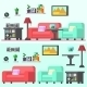 Modern Living Room with Furniture - GraphicRiver Item for Sale