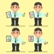 Cartoon Office Workers with Checklist - GraphicRiver Item for Sale