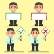 Office Workers Right and Wrong Text Signs - GraphicRiver Item for Sale