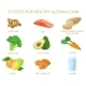 Nine Foods for Healthy Skin - GraphicRiver Item for Sale