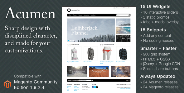 Acumen - The Highly Extensible Magento Theme 4