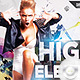 Flyer High Elektro Party - GraphicRiver Item for Sale