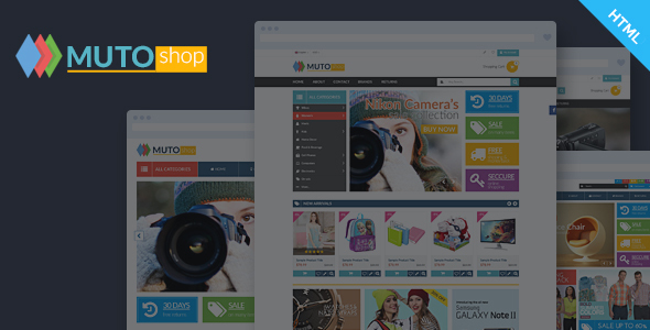 Muto - Electronics Fashion Shop HTML Template