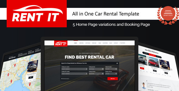 Rentit - Multipurpose Vehicle Car Rental WordPress Theme