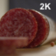 Slices Of Salami Roll On The Table - VideoHive Item for Sale
