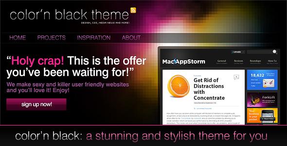 Color'n Black theme