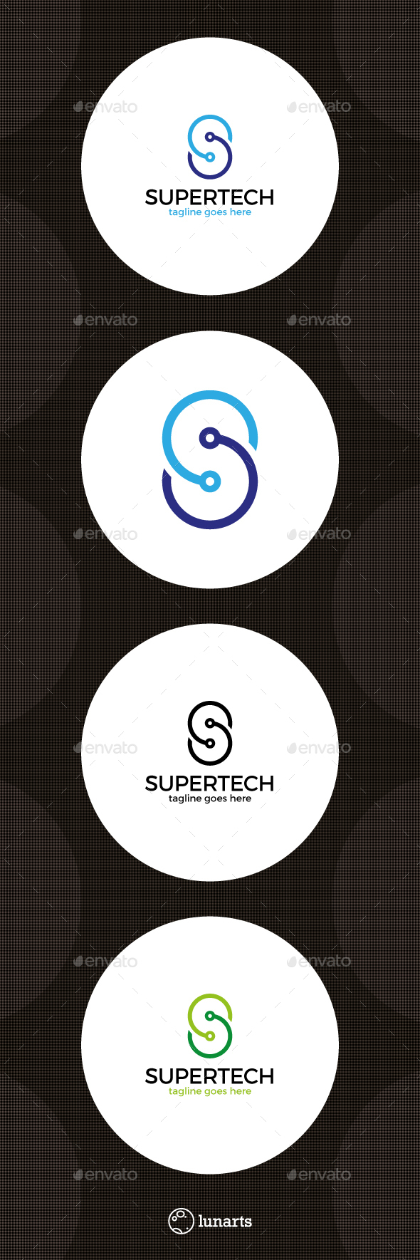 Letter S Logo - Tech Line