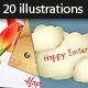 20 Easter Vector Illustrations Set - GraphicRiver Item for Sale