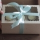 Decorative Gift Box Tied With Cupcakes a Turquoise Ribbon In Female Hands - VideoHive Item for Sale