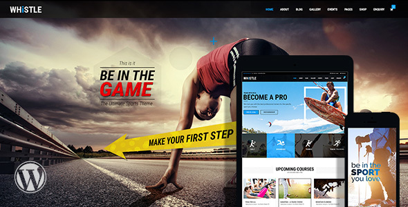Whistle - Sports Club WordPress Theme