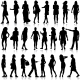 Black Silhouettes of Men and Women - GraphicRiver Item for Sale