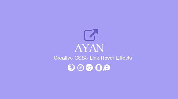 Ayan. CSS3 Link Hover Effects