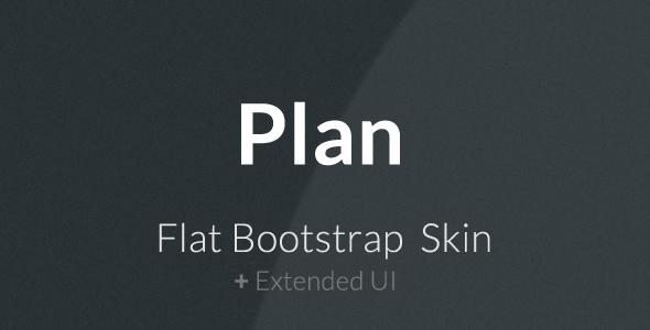Plan - Płaska skóra Bootstrap