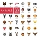 Animal Head Icons Set - GraphicRiver Item for Sale